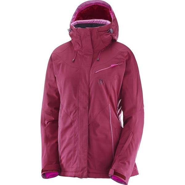 Dámska zimná bunda SALOMON FANTASY JKT W L396924 červená f7fd9af75bb