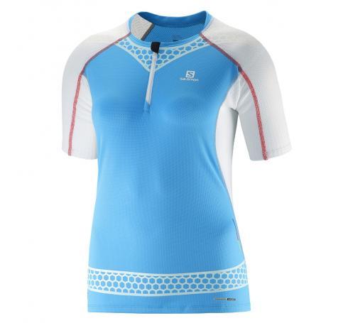 Dámske tričko SALOMON S-LAB EXO ZIP TEE W BLUE LINE 377400