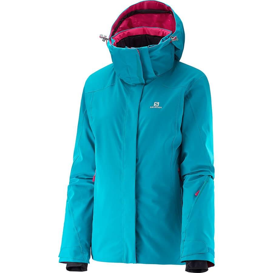 Dámska zimná bunda Salomon Brilliant jkt L382636 Kouak blue b2a3f5b49f9