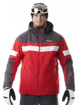 1730edd09 Pánska lyžiarská bunda NORDBLANC VERTEX 5802 červená
