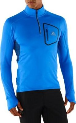 SALOMON TRAIL RUNNER WARM LS ZP TEE M