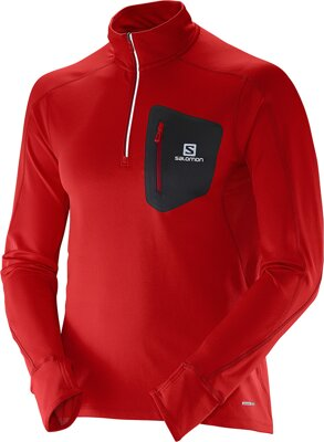 Salomon TRAIL RUNNER WARM LS ZP TEE M L37095600