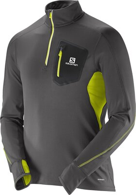 SALOMON TRAIL RUNNER WARM LS ZP TEE M L37524400