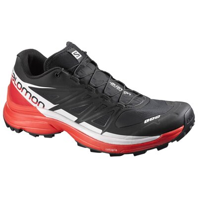 Pánske trail runningové SALOMON S-LAB WINGS 8 SoftGround BLACK/RACINGRED/WHITE 391959