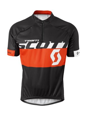 Cyklistické tričko Scott RC Team s/sl Shirt, black/tangerine orange