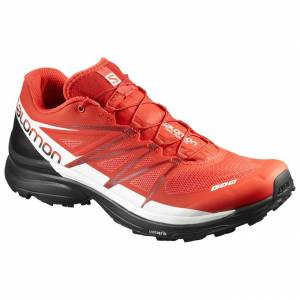 Pánske trail runnignové SALOMON S-LAB WINGS 8 RacingRed/Black/White 391215